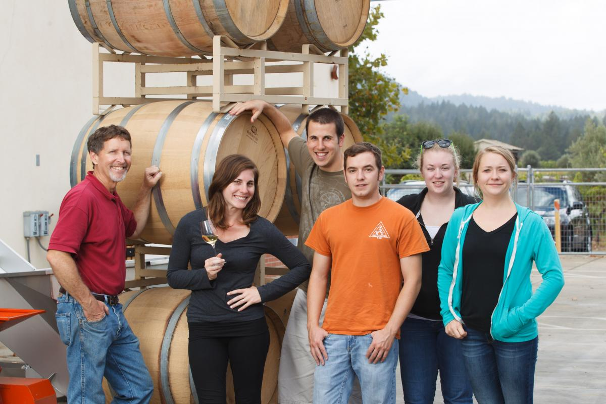 Shone Farm Winery Students